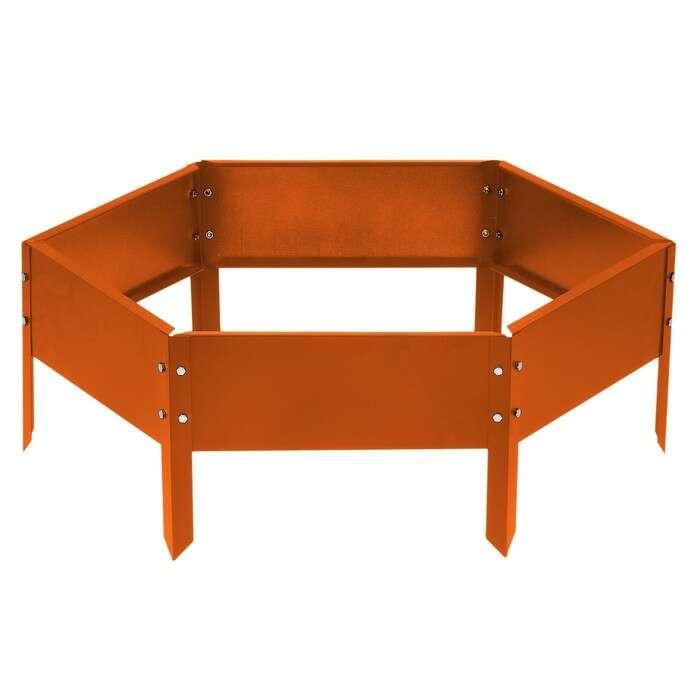 Клумба оцинкованная d = 60 см, h = 15 см, оранжевая