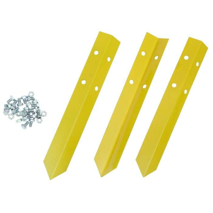 Клумба оцинкованная, d = 80 см, h = 15 см, жёлтая