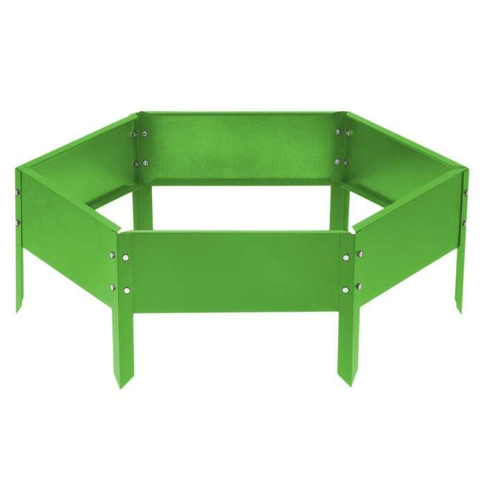 Клумба оцинкованная, d = 140 см, h = 15 см, ярко-зелёная, Greengo