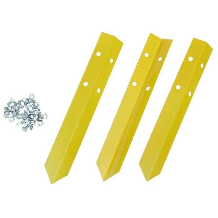 Клумба оцинкованная, d = 140 см, h = 15 см, жёлтая