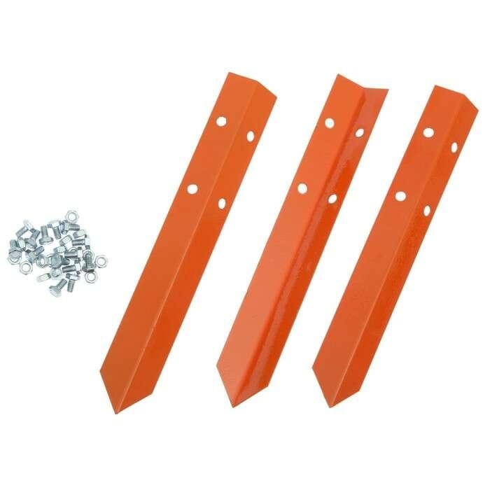 Клумба оцинкованная, d = 140 см, h = 15 см, оранжевая