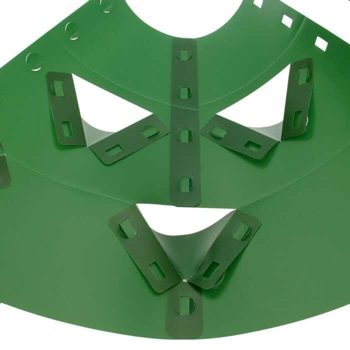 Клумба конусная, d = 10 – 30 см, h = 60 см, зелёная