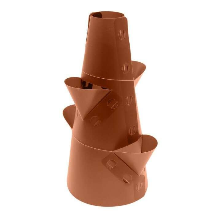 Клумба конусная, d = 10 – 30 см, h = 60 см, коричневая