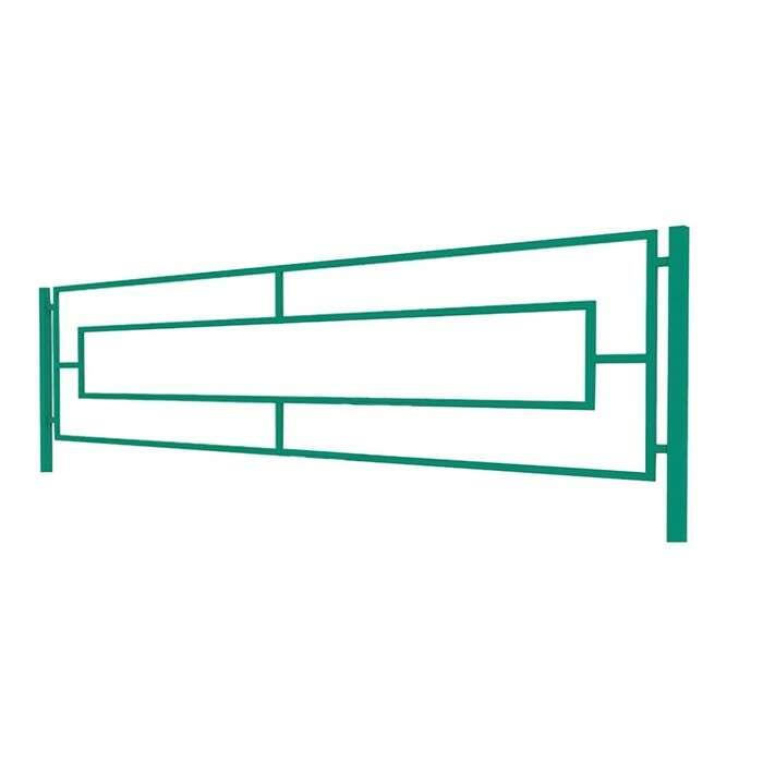 Ограждение декоративное, 50 × 200 см, 1 секция, металл, зелёное