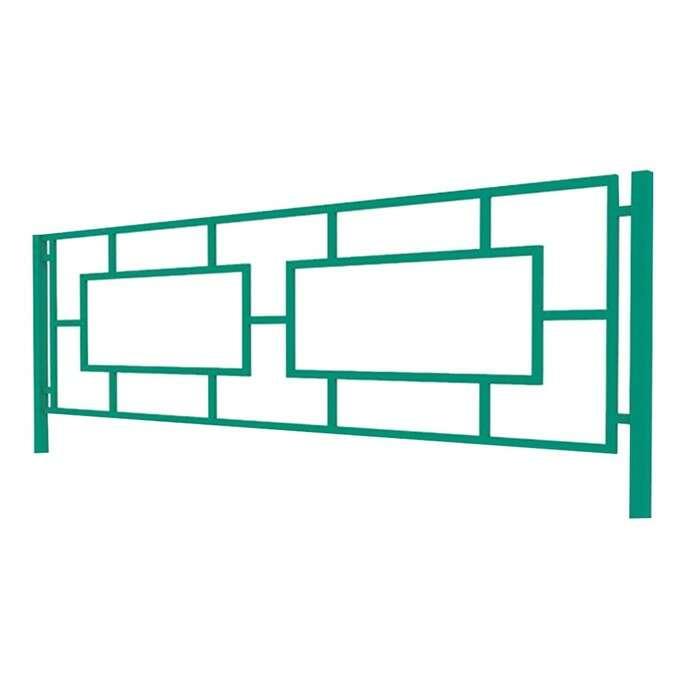 Ограждение декоративное, 50 × 194 см, 1 секция, металл, зелёное