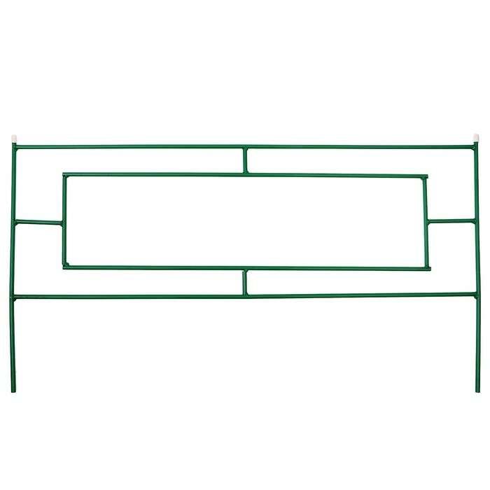 Ограждение декоративное, 55 × 500 см, 5 секций, металл, зелёное, «Газонный»