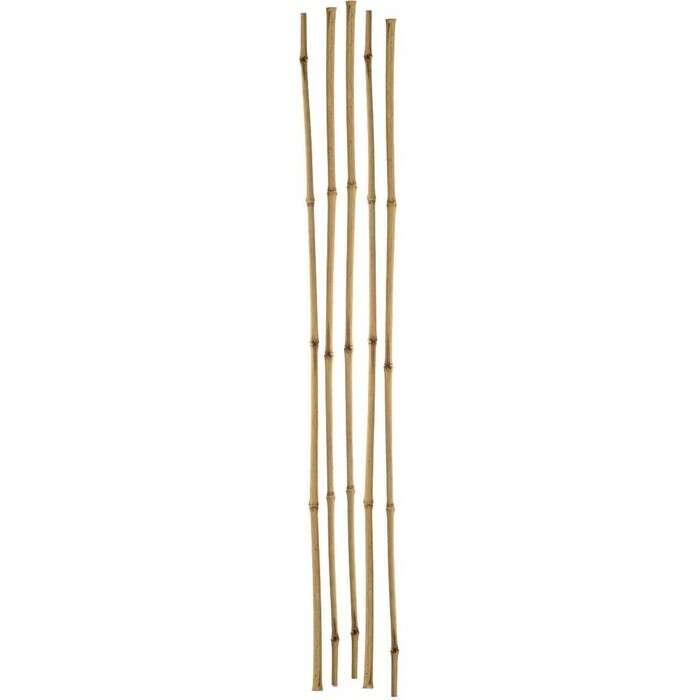Колышек для подвязки растений, h = 180 см, d = 0,8 см, набор 5 шт., бамбук