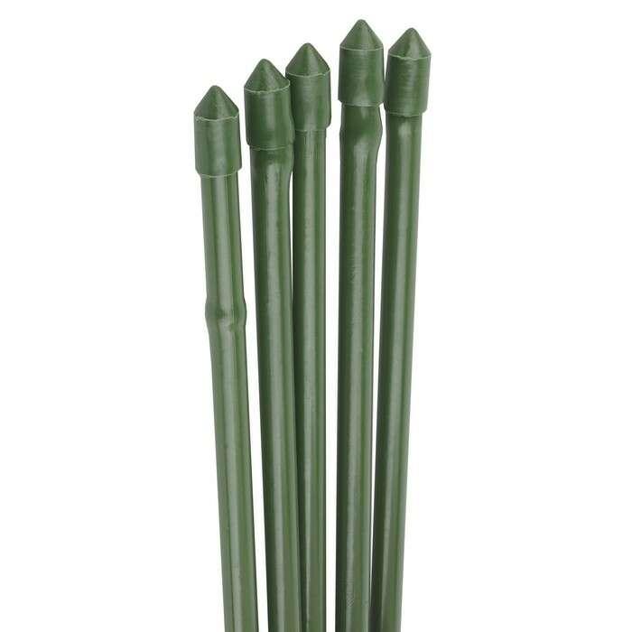 Колышек для подвязки растений, h = 75 см, d = 1,1 см, набор 5 шт., металл в пластике, «Бамбук»