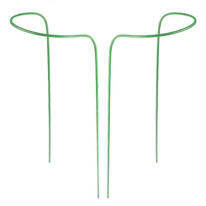 Кустодержатель, d = 30 см, h = 120 см, ножка d = 1 см, металл, набор 2 шт., зелёный