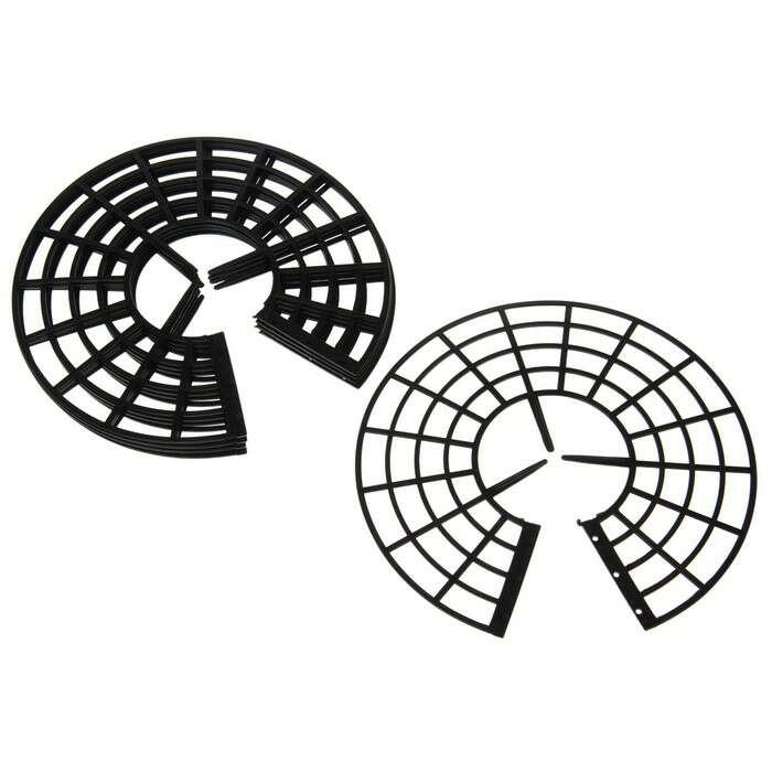 Кустодержатель для клубники, d = 25.5 см, пластик, набор 5 шт., чёрный