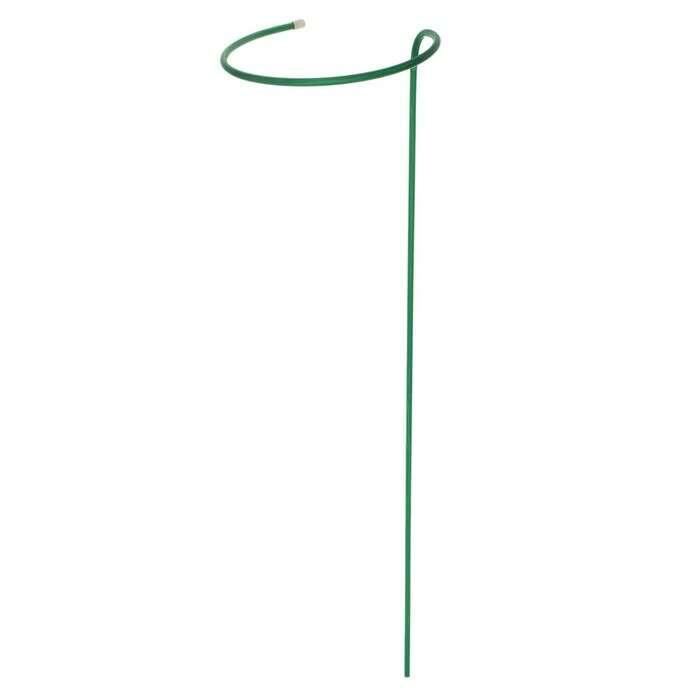 Кустодержатель, d = 30 см, h = 120 см, ножка d = 1 см, металл, зелёный