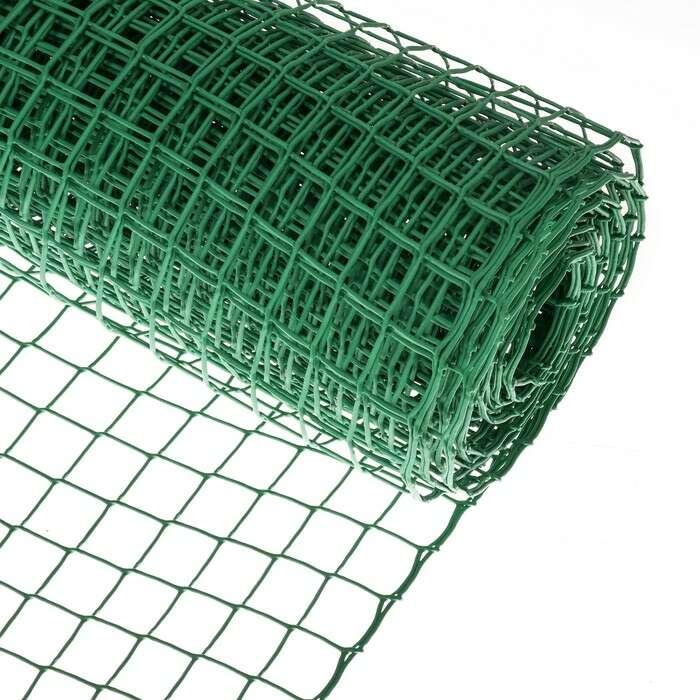 Сетка садовая 0.5 × 10 м, ячейка 4 × 4 см, зелёная