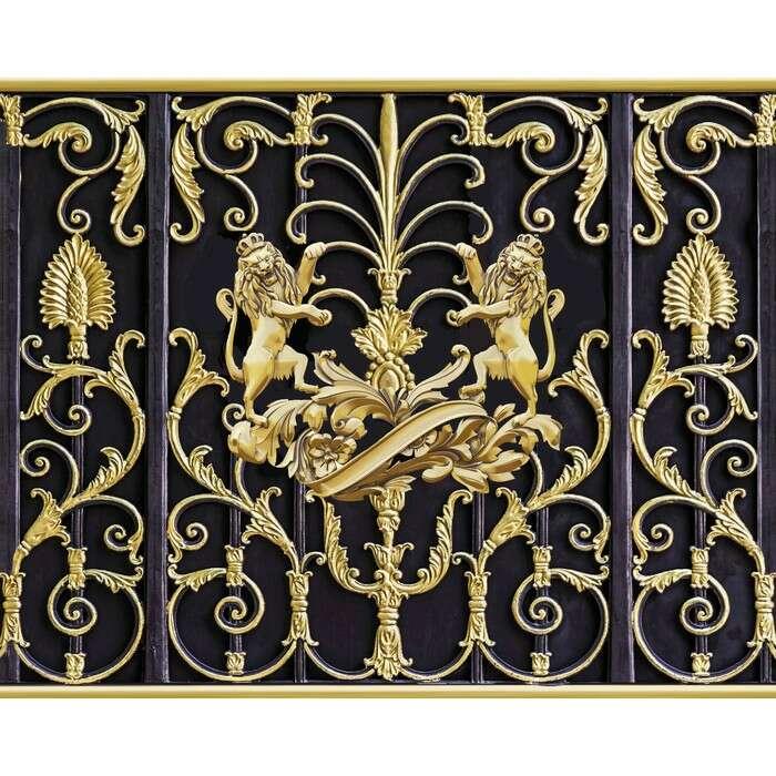 Фотобаннер, 300 × 200 см, с фотопечатью, «Золотые львы»