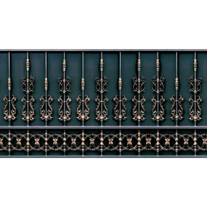 Фотобаннер, 250 × 150 см, с фотопечатью, «Золотой забор»