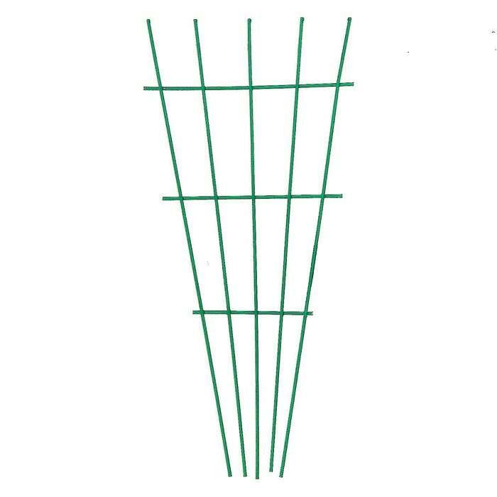 Шпалера, 40 × 18 × 0.3 см, металл, зелёная, «Веерная»