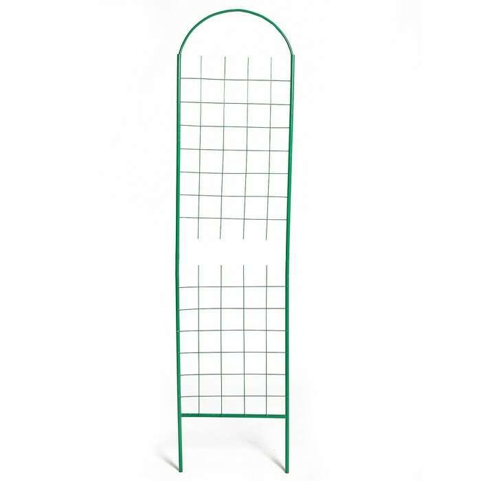 Шпалера, 205 × 50 × 1.6 см, металл, зелёная, «Сетка разборная»