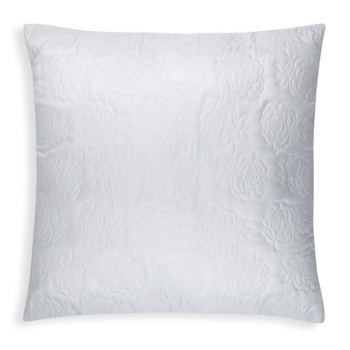 Подушка Роза  70х70 см цв. белый, полиэфирное волокно, пэ 100%