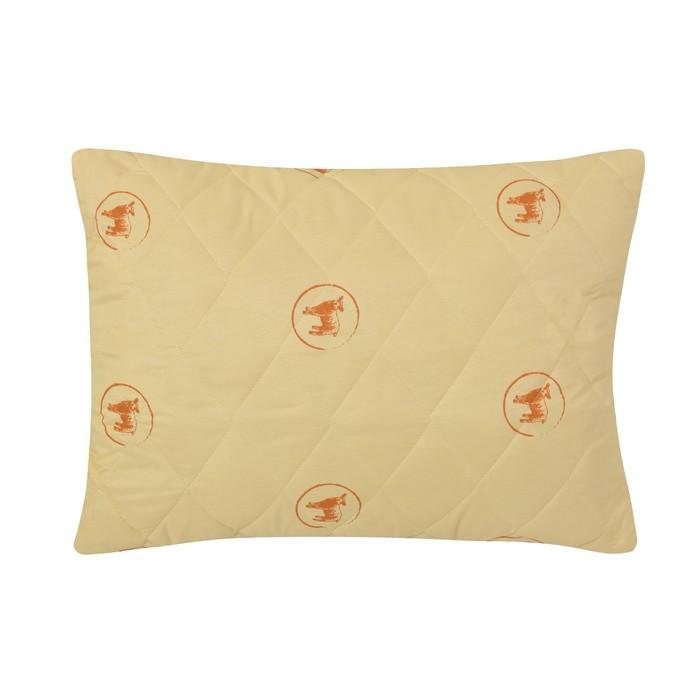 Подушка стёганая «Овечья шерсть», 50х70 см, чехол овечья шерсть, наполнитель экофайбер