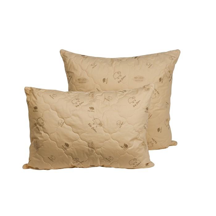Подушка Миродель Овечья шерсть 50*70 см, овечья шерсть, микрофибра
