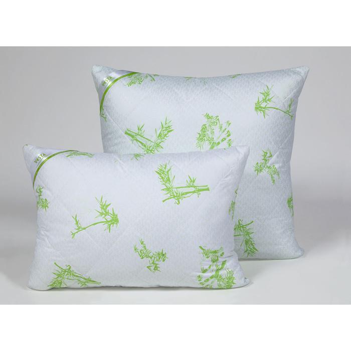 Подушка стёганная 50х70 см, бамбуковое волокно, ткань глосс-сатин, п/э 100%
