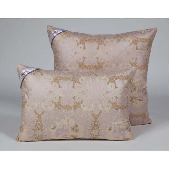 Подушка стёганная 5070 см, шерсть верблюда, ткань глосс-сатин, п/э 100%