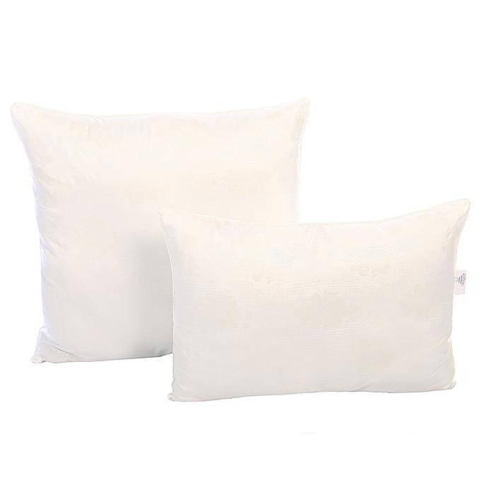 Подушка comfort gloss «Лебяжий пух», 70х70 см, иск.лебяжий пух, глоссатин, пэ 100%