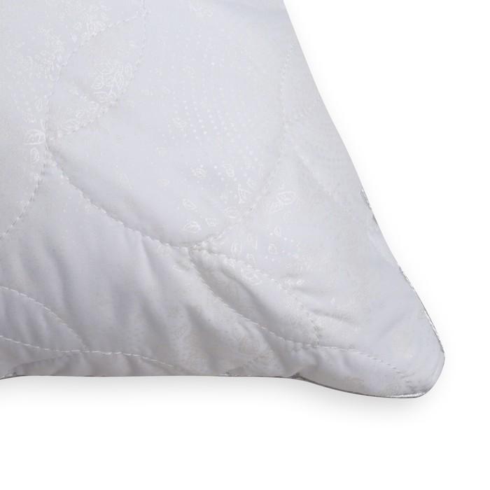 Подушка Лебяжий пух 70х70 см, иск.лебяжий пух, микрофибра с тиснением, пэ 100%