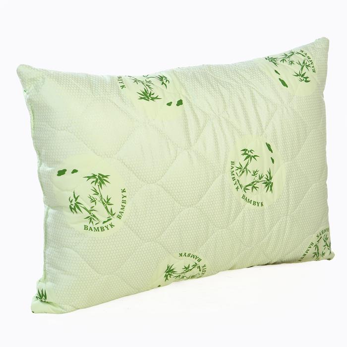 Подушка Бамбук 70х70 см бамбук.волокно/иск.лебяжий пух, тик, хл 100%