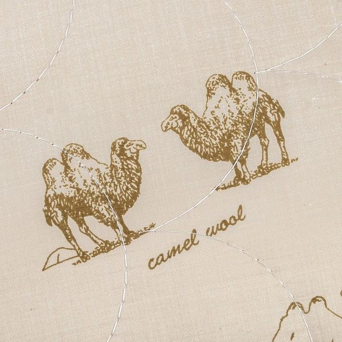 Подушка Адамас, размер 50х70 см, верблюжья шерсть, чехол тик