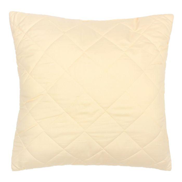 Подушка Овечья шерсть высокая 68*68см, беж., овечья шерсть/силиконизированное волокно,микрофибра,пэ1