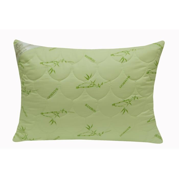Подушка стёганая 2-х камерная «Бамбук», 50х70 см, чехол бамбук/полиэстер, наполнитель иск лебяжий пух