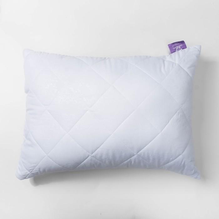 Подушка Бамбук высокая 68х68 см белый, бамбук/силиконизированное волокно, микрофибра, пэ100%   27248