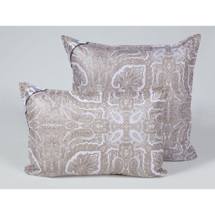 Подушка стёганная 70х70 см, шерсть верблюда, ткань тик, п/э 100%