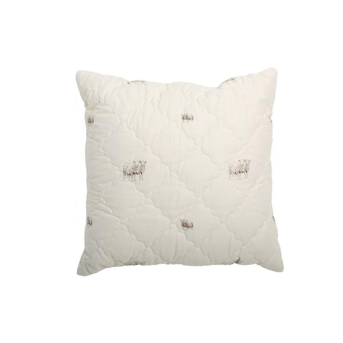 Подушка упругая «Овечья шерсть», размер 70 × 70 см