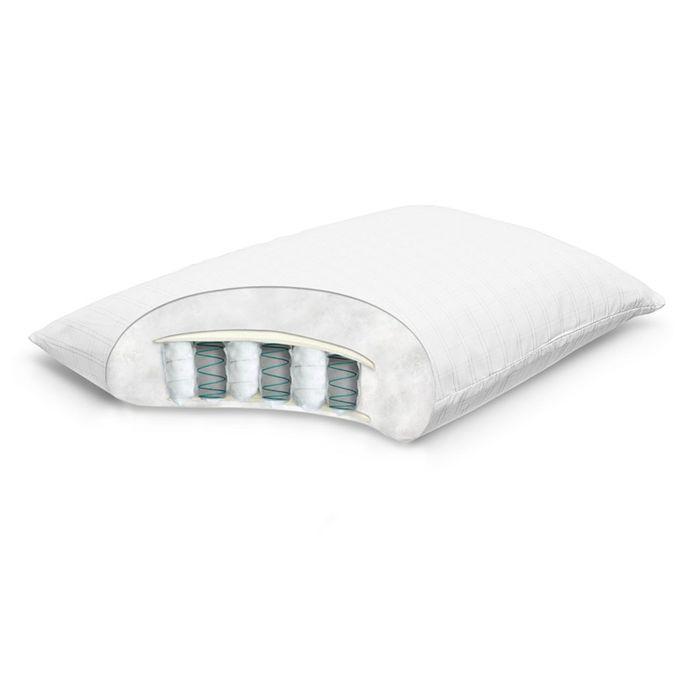 Подушка Mediflex Spring Pillow, размер 50 × 70 см, высота 20 см, микрофибра