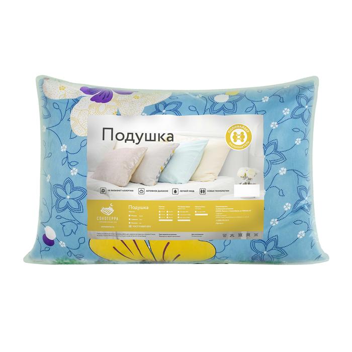 Подушка 50x70 см, цвет МИКС, полиэфирное волокно, полиэстер 100%