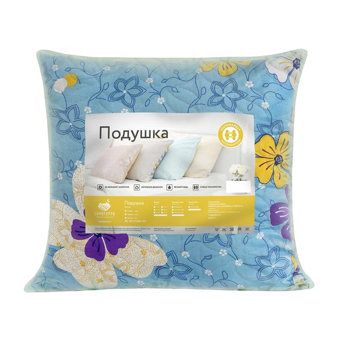 Подушка 70x70 см, цвет МИКС, полиэфирное волокно, полиэстер 100%