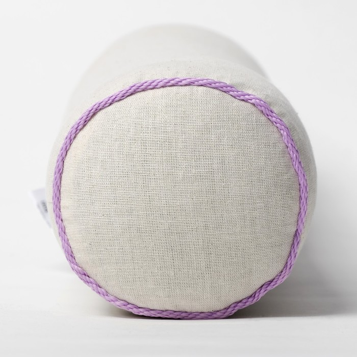 Подушка валик Притяжение 10х40 см лён30%, хл70%, лузга гречихи, лаванда
