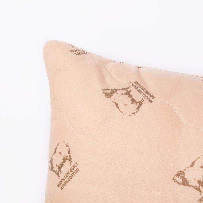 Подушка ультрастеп Овечья шерсть 70x70 см, полиэфирное волокно, пэ 100%