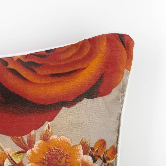 Подушка Адамас синтетическая, размер 70х70 см, чехол МИКС