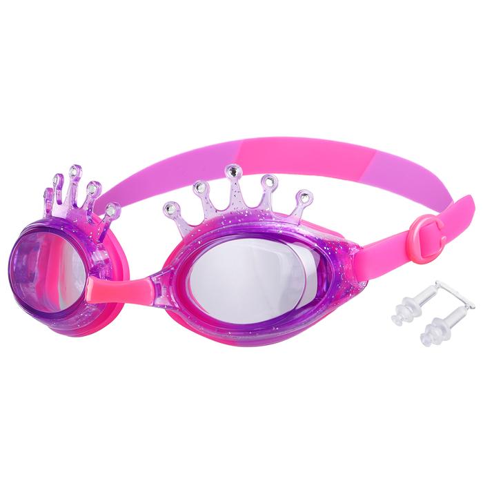 Очки для плавания, детские Корона, цвет фиолетовый