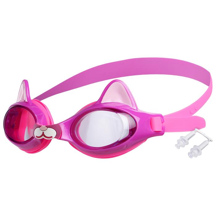 Очки для плавания, детские Котенок, цвет фиолетовый