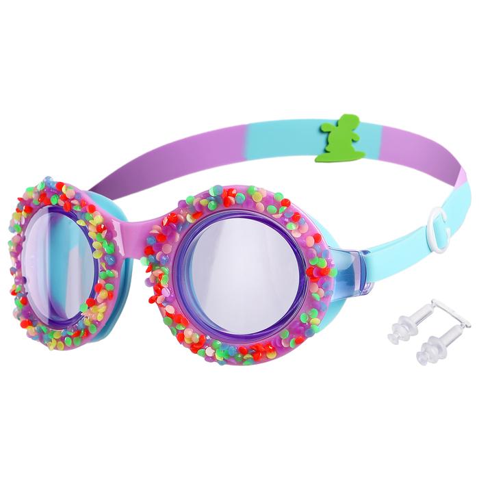 Очки для плавания, детские, цвет фиолетовый