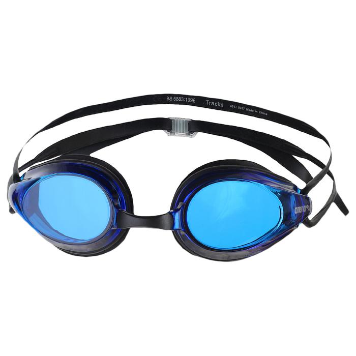 Очки для плавания ARENA Tracks, синие линзы, черная оправа