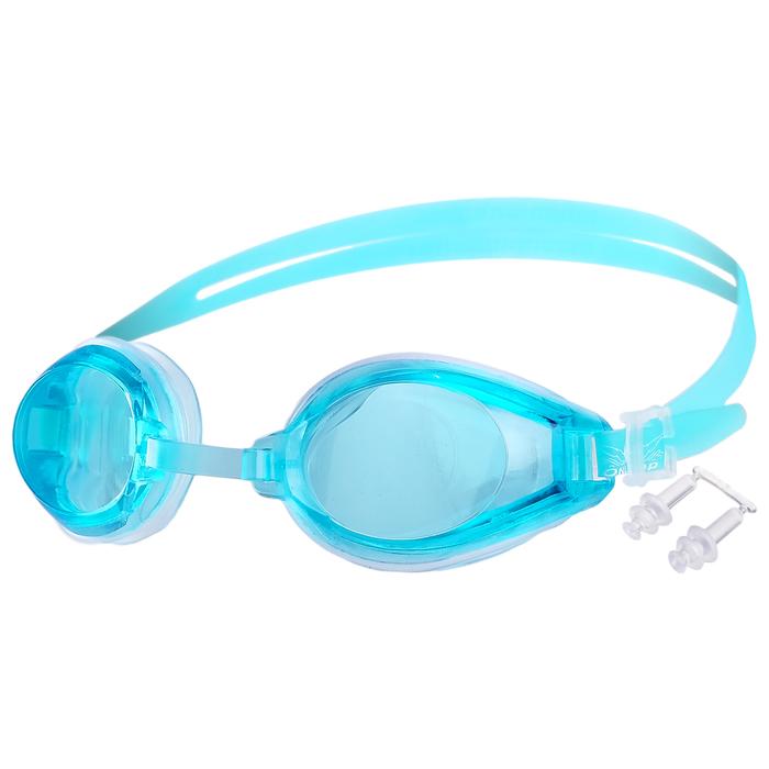 Очки для плавания + беруши 6018, цвета микс