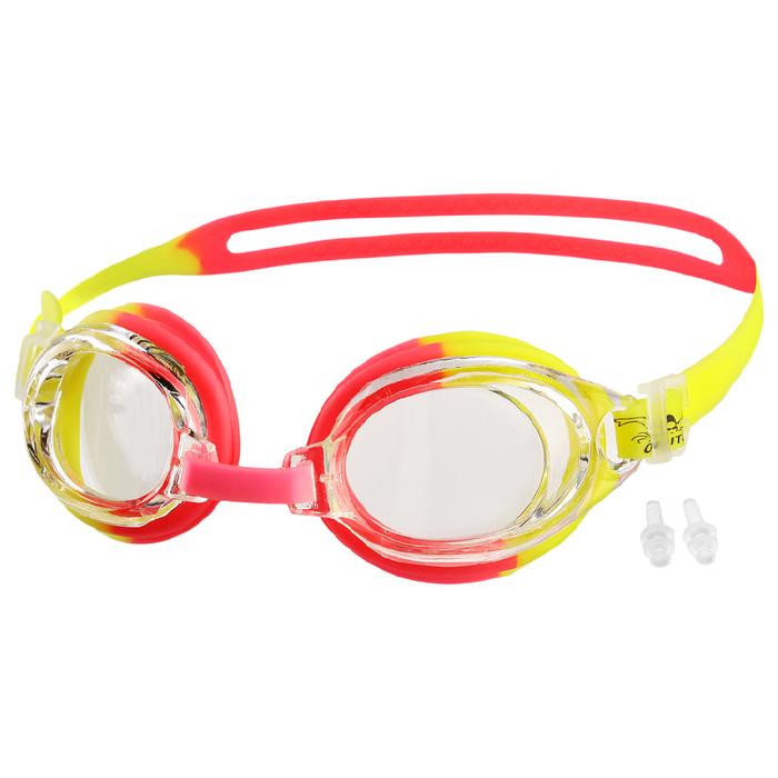 Очки для плавания + беруши BL28, цвета микс