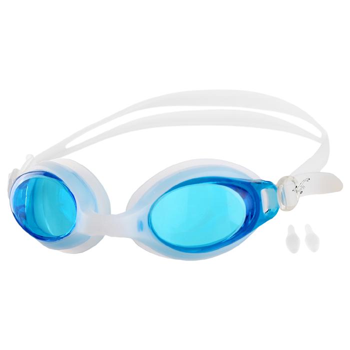 Очки для плавания + беруши F988, цвета микс
