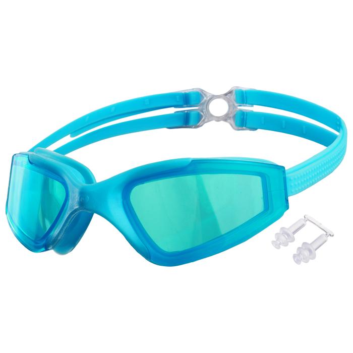 Очки для плавания, взрослые + беруши, цвета микс