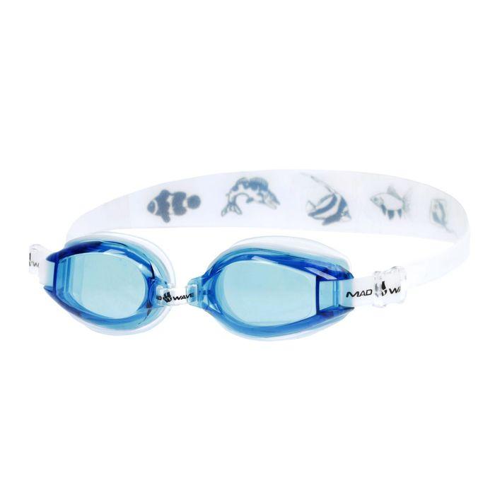 Очки для плавания детские Coaster kids, цвет голубой/белый