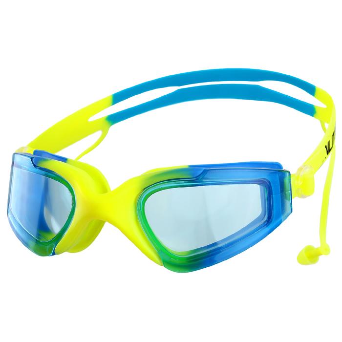 Очки для плавания с берушами BL6202, цвета микс